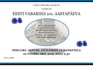 Vabariigi aastapäev – Aktus.